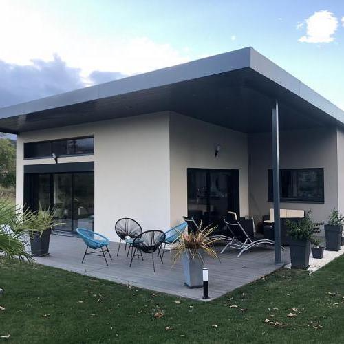 Toit terrasse et toiture monopente